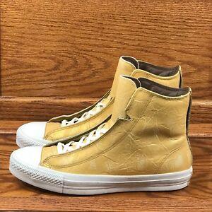 Converse AlphaChaussures doré de baskets haut or Ctas blanches à YI6bf7gyv