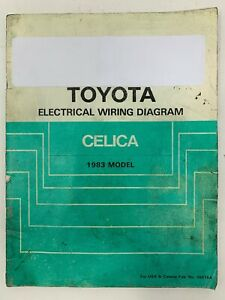 1983 Toyota Celica Electrical Wiring Diagram Repair Manual Ebay
