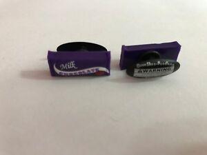 Purple Milk Chocolate Bar Shoe-Doodle For Rubber Shoes Crocs Shoe Charm PSC1025