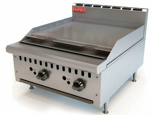 Commercial Kitchen Gas Hotplate Table Top Griddle Heavy Duty 60cm Burger Grill
