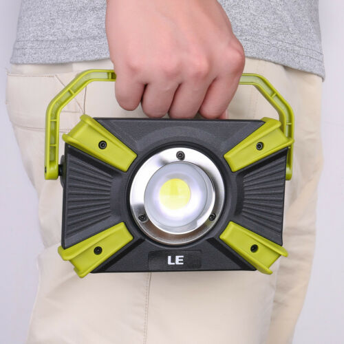 LE 15W Portable LED Work Light USB Rechargeable Camping Lantern Daylight White