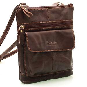New-Genuine-Leather-Crossbag-Messenger-Shoulder-Bag-Passport-Tavel-Purse-9972