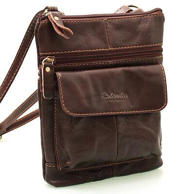 New Genuine Leather Crossbag Messenger Shoulder Bag Passport Tavel Purse 9972