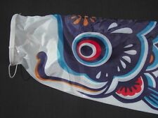 Large Koinobori Japanese Carp Wind Sock Blue Koi Nobori Fish Flag Windsock