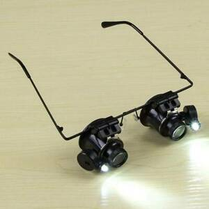 20X-Loupe-Magnifying-Glasses-Jeweler-microscope-Watch-Repair-Tool-LED-Magnifier