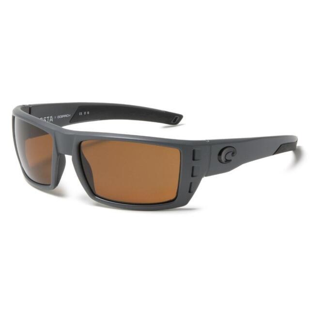 93a3dd17c3 New Costa Del Mar Rafael OCEARCH Polarized Sunglasses 400P Matte Gray Amber