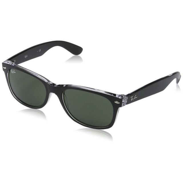 7158349240d Ray-Ban RB2132 New Wayfarer Color Mix Sunglasses Transparent Black  Green  55mm