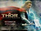 Thor The Dark World Double Sided Original Movie Film Poster Advance British Quad