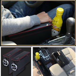 Details About Pair Pu Leather Creative Car Suv Armrest Storage Box For Driver Penger Sides