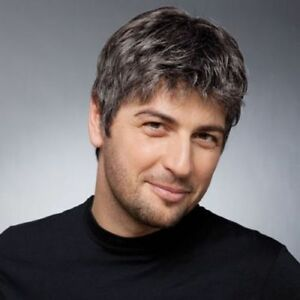 Details about Stylish Black Gray Toupee Short Shaggy Natural Straight  Capless Men s Wig Hair 5ebf8842ea84