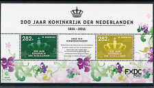 Dutch Caribbean St Eustatius 2016 MNH Kingdom of Netherlands 2v M/S Stamps