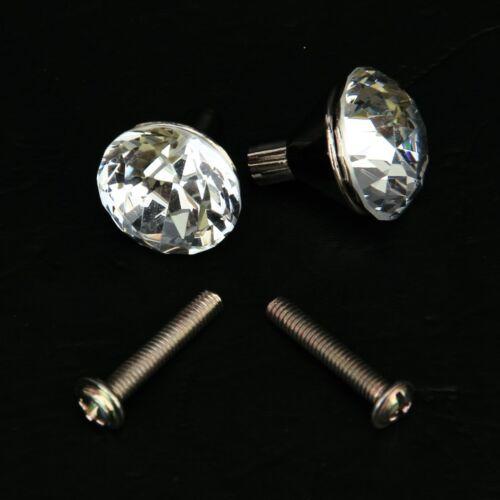 2x Zinc Alloy Small Crystal Drawer Knob Pull Handle AD
