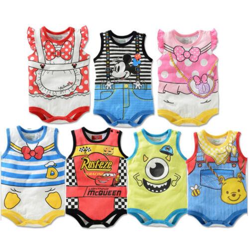 Neugeborenes Bady Jungen Mädchen Strampler Body Ärmellos Overall Sommer Kleidung