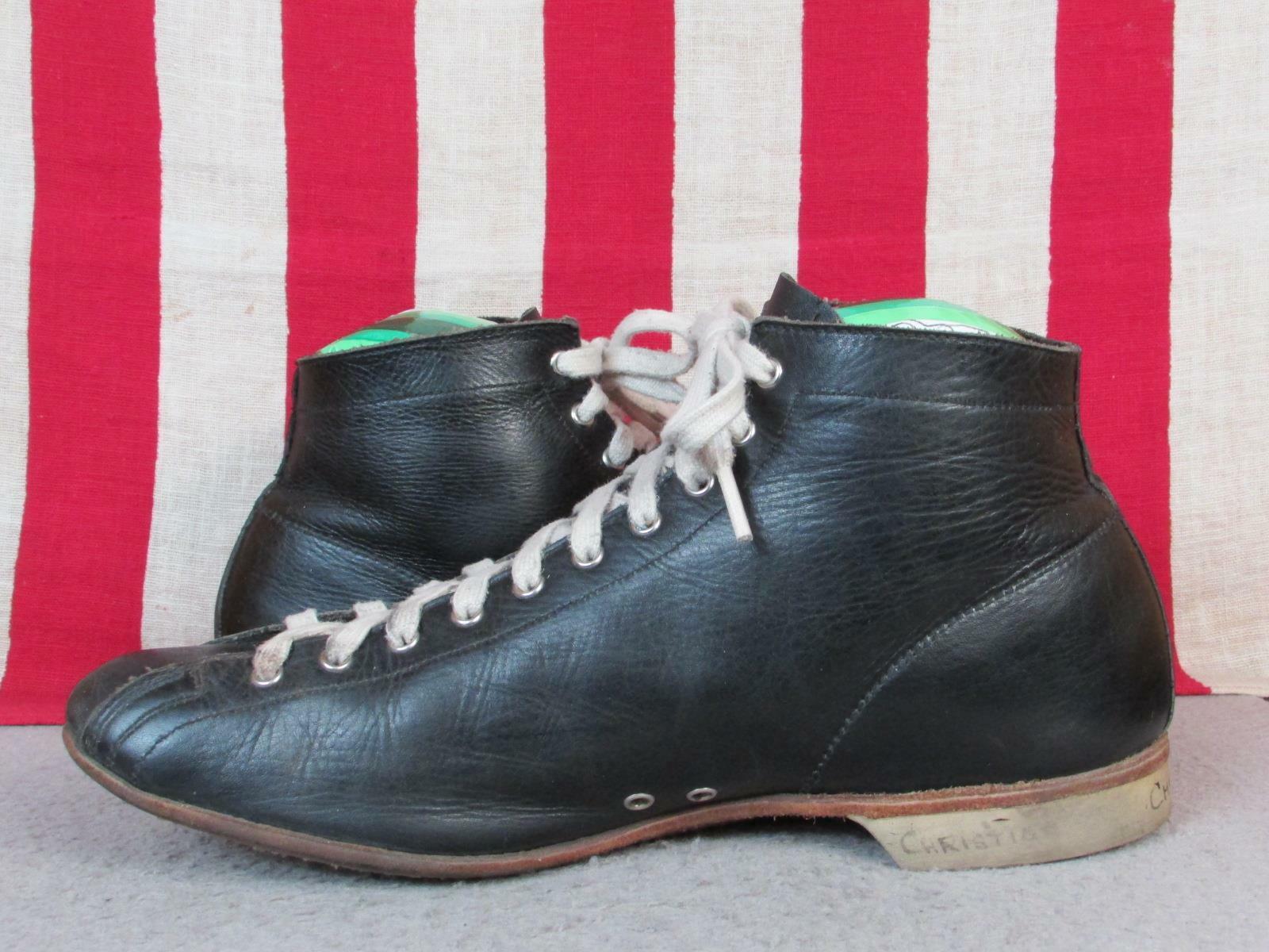 Vintage 1930s Black Leather High Top Athletic Sho… - image 3