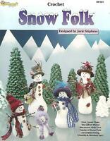 Snow Folk Crochet Patterns Snowmen Family & Trees Stephens Needlecraft Shop