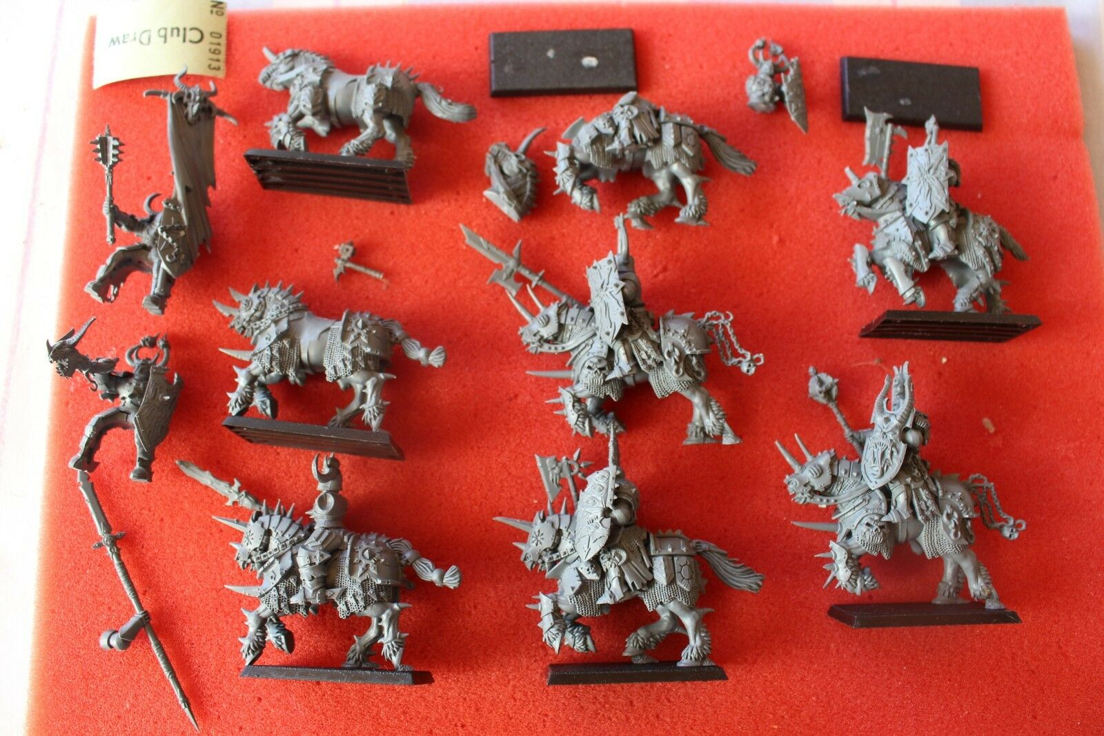 Games Workshop Warhammer Fantasy Chaos Knights x8 Spares Regiment Warriors GW