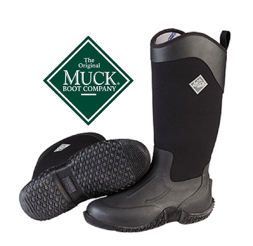 Nuevo Muck bota Tachuela II Hi Impermeable Bota De Trabajo Ecuestre Negro