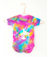 Baby Gift Romper Tie Dyed Unicorn Bodysuit Baby shower Girl 3-6 / 6-12 Months