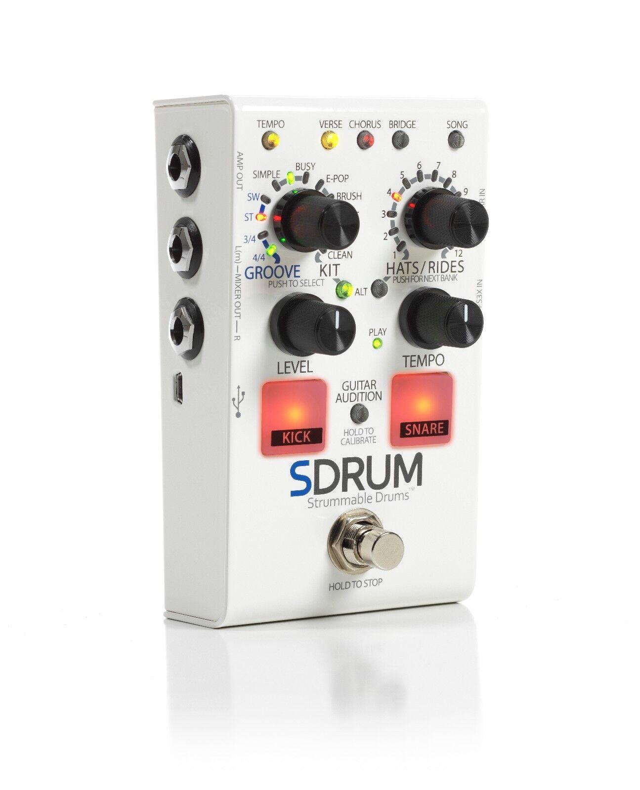 Digitech SDrum Strummable Drums Guitar Pedal w  Power Supply S Drum