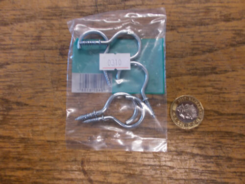 Zinc Plated Shouldered Cup Hooks 25mm X 25