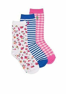 NWT Polo Ralph Lauren Little Girl/'s 3-Pack No-Show Low-Cut Gingham Socks