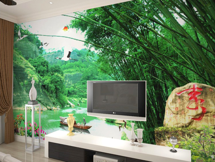 3D Bamboos And Birds 21 Wall Paper wall Print Decal Wall Deco Wall Indoor Murals