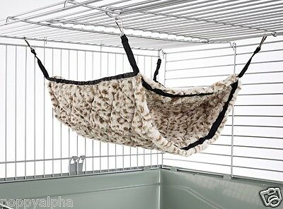 Luxury Bunk Bed Cage Toy : Choice of Fabrics - Rat, Ferret, Chinchilla, Hamster