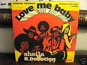 SHEILA-B-DEVOTION-LOVE-ME-BABY-45-GIRI-nuovo-MAI-SUONATO-1977