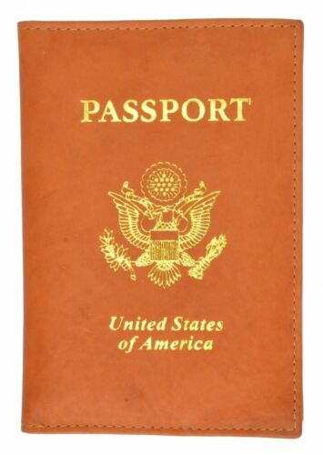 New USA Leather passport case wallet credit ATM card case ID holder Brand