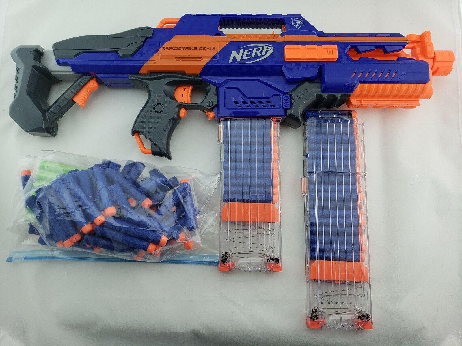 Nerf Gun Extra Clip Motorized Nstrike Elite Rapidstrike Cs18 Soft Dart Hasbro For Sale Online