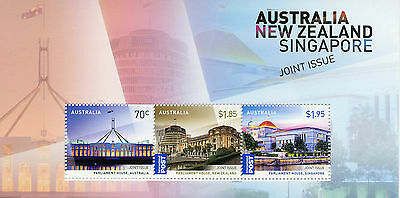 Topical Stamps Australia 2015 Mnh Joint Issue New Zealand Singapore Parliament House 3v M/s Australia