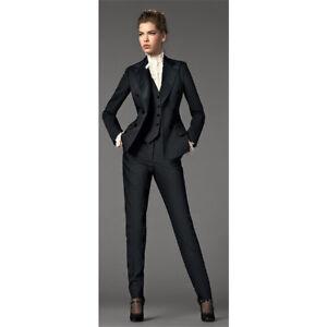 Details About Black 3 Piece Suits Women Business Suit Formal Female Office Uniform Las
