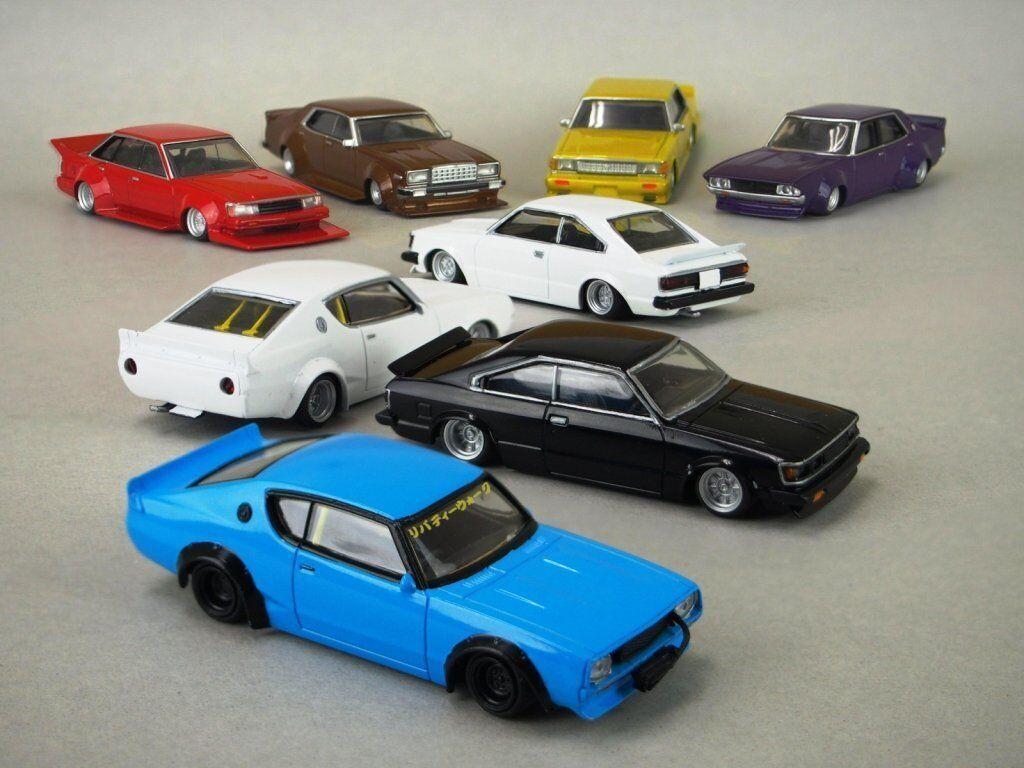 Aoshima 164 coche clásico japonés gurachan Colección parte .9 (12 piezas) Caja Nuevo