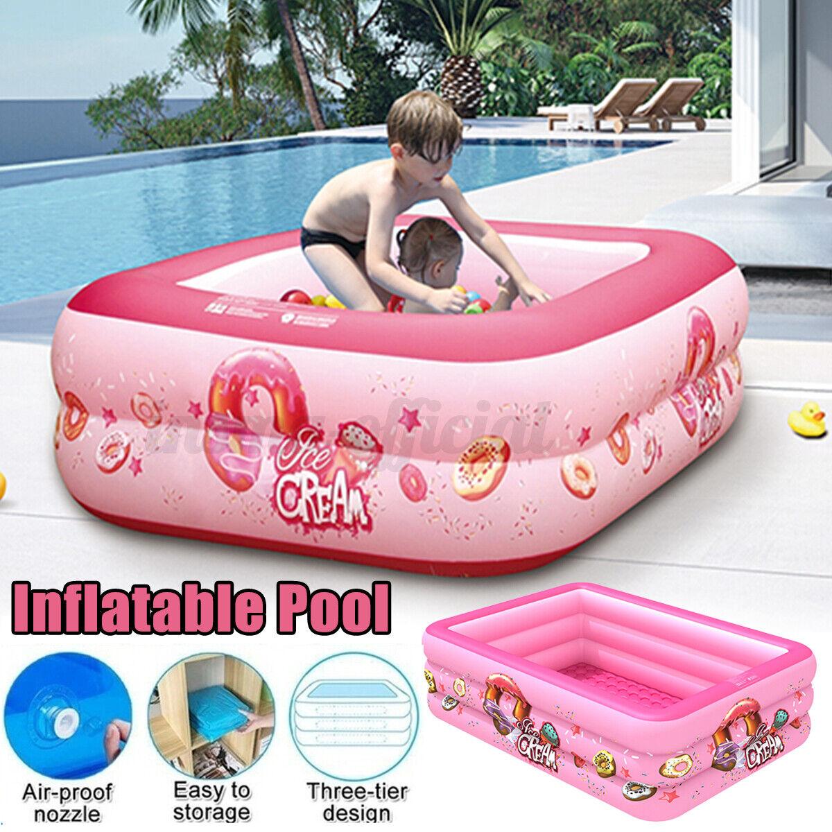 Inflatable Swimming Water Pool Family Kids Indoor Outdoor Garden Paddling