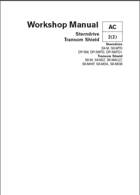 volvo penta sx repair manual