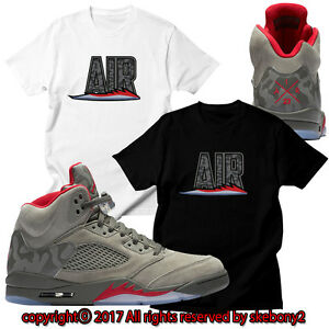 e7a92e4f6300 NEW MILITARY THEMES Air Jordan 5 matching CUSTOM T SHIRT CAMO JD 5-1 ...