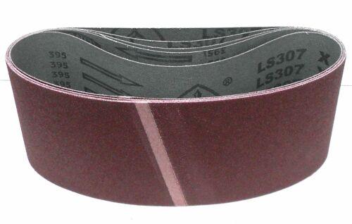 5x Klingspor tissus Schleifband abrasifs ls307x 120x820 mm grain au choix