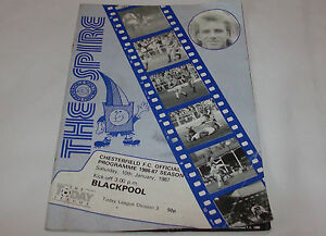 Chesterfield FC v Blackpool Football Club Official Programme Jan 1987 - Blackburn, United Kingdom - Chesterfield FC v Blackpool Football Club Official Programme Jan 1987 - Blackburn, United Kingdom