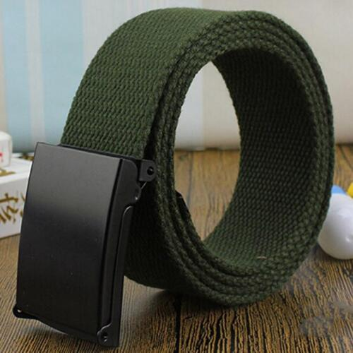 Men Outdoor Hiking Sports Waistband Army Military Buckle Belt Adjustable NEW S