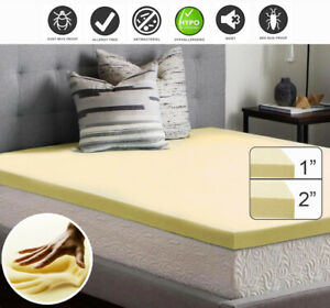 MEMORY FOAM MATTRESS TOPPER IN VARIOUS SIZES AND DEPTHS