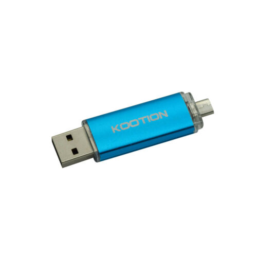 1Pcs 64GB Blue OTG USB Flash Drive Micro-USB Dual Port for Smart Phone