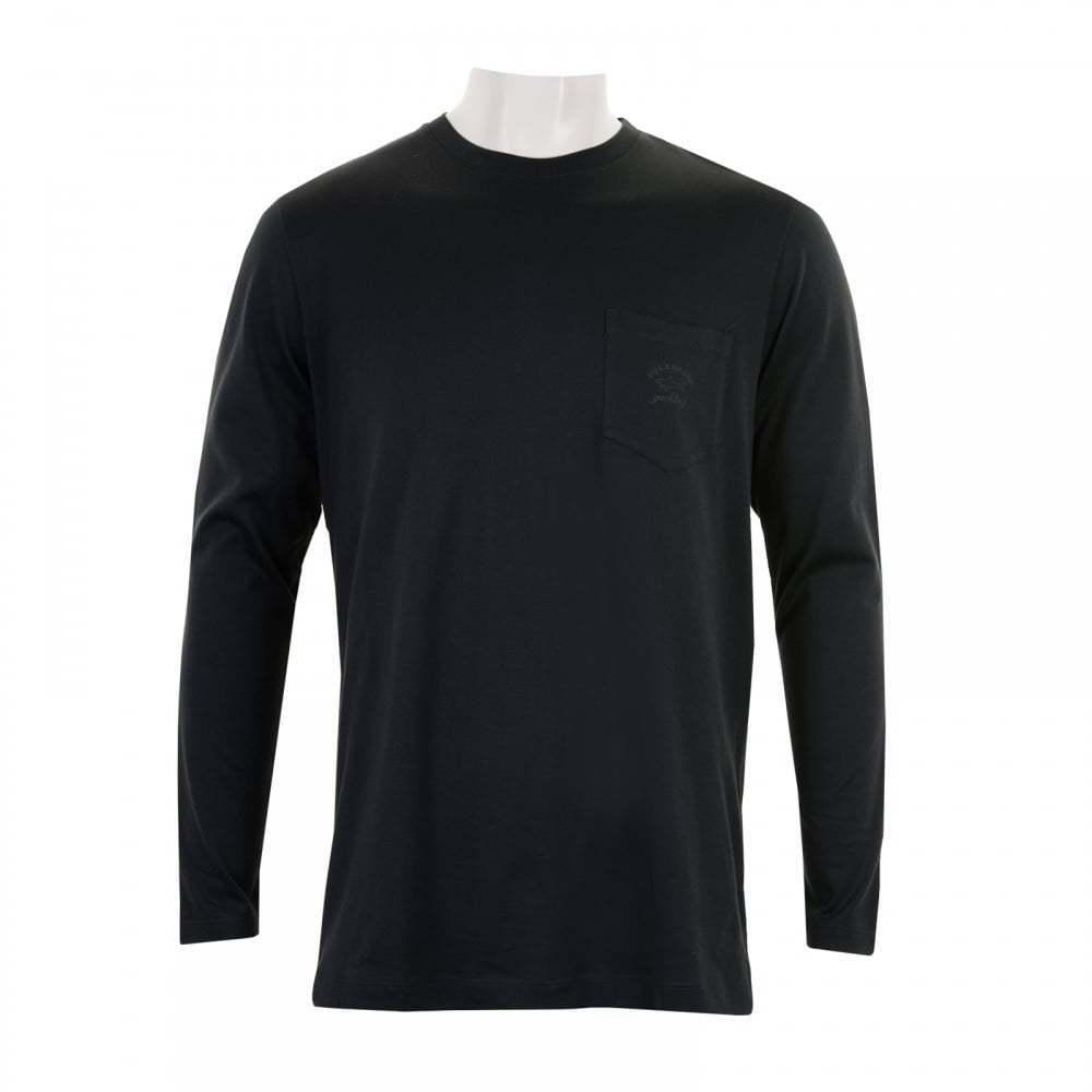 Paul & Shark Herren Langarm T-Shirt (Schwarz)