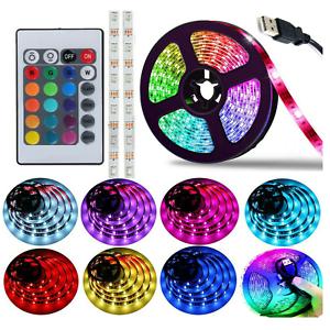 5m-5V-LED-Strip-Light-Kitchen-Under-Cabinet-Lighting-USB-TV-Backlight-RGB-Remote