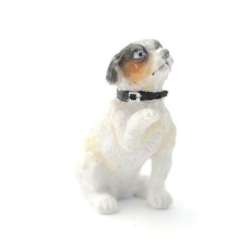 Puppenhaus Jack Russel Haustier Hund Betteln Mit Pfote Miniatur 1:12 Zubehör