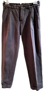 LORO-PIANA-CROPPED-GRAY-DRESS-CASUAL-PANTS-42-2850