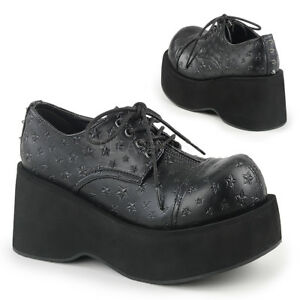 "SALE DEMONIA Rockabilly Cyber Punk Gothic Oxfords 3 1//4/"" Platform Shoes DANK-111"