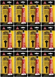 12 pack AGS  Extra Fine Powdered Graphite Dry Lubricant  #MZ-2   .21 OZ    NEW