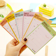 Daily Planner Notepad Check List Bookmark Marker Memo Flags Sticky Notes
