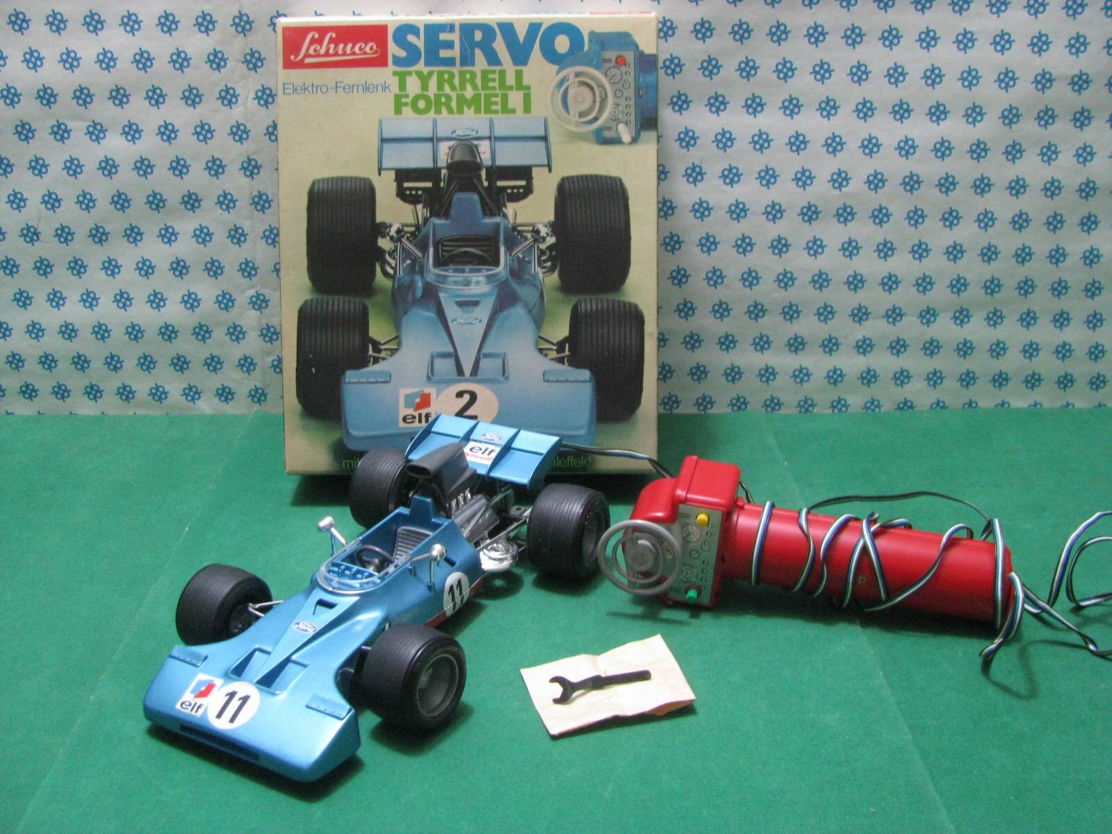 RARE  Vintage SCHUCO SERVO  - TYRREL  Formel 1  - Elektro-Fernlenk 356 217