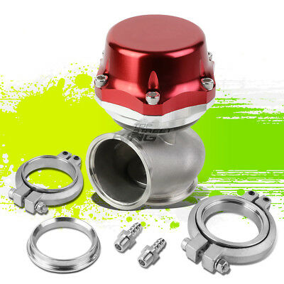 """UNIVERSAL 50MM TURBO V-BAND 5.25/"""" WASTEGATE BYPASS EXHAUST+7/&14 PSI SPRING GOLD"""
